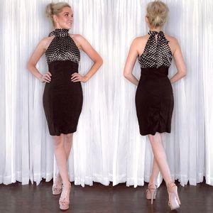 Polka Dot Classy Black Dress
